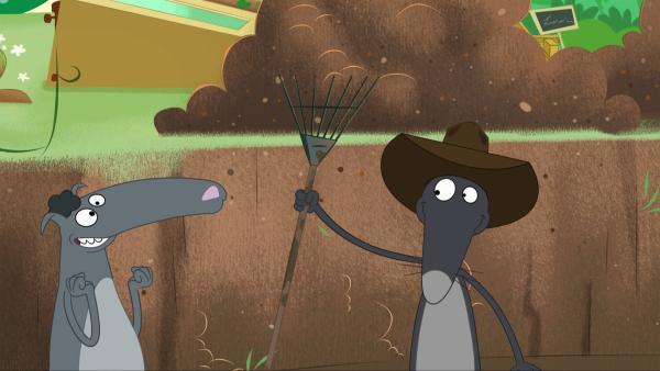 Wolf glaubt, eine mittelalterliche Antenne gefunden zu haben. | Rechte: KiKA/Samka Productions