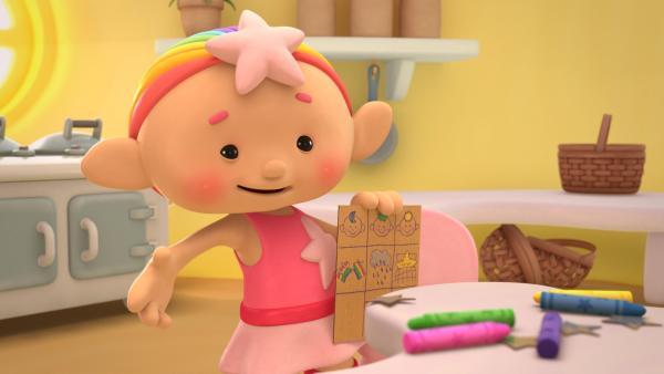 Baba Pink hat einen Aufgabenplan erstellt. | Rechte: KiKA/Hoho Entertainment