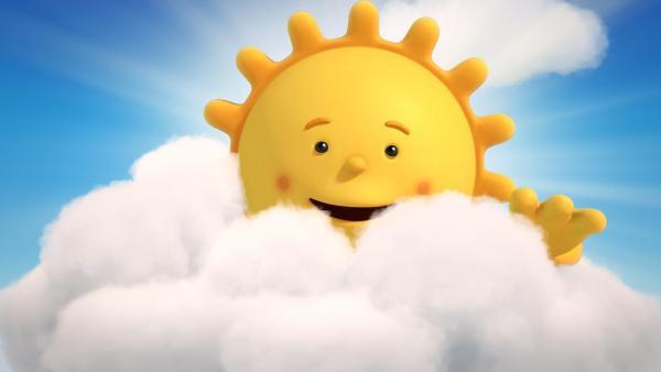 Herr Sonne sieht erstmals seinen eigenen Sonnenuntergang. | Rechte: KiKA/Hoho Entertainment