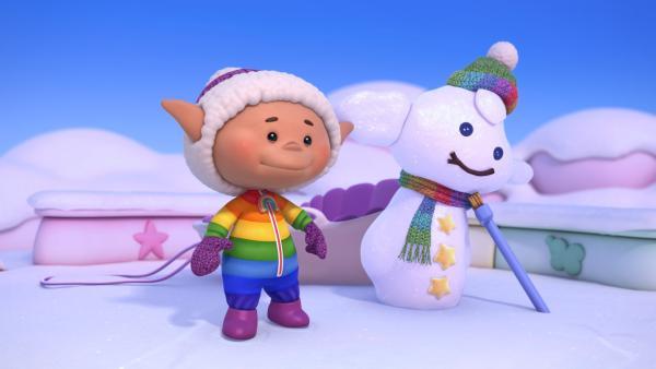 Bobo und das Schnee-Wolkenkind | Rechte: KiKA/Hoho Entertainment