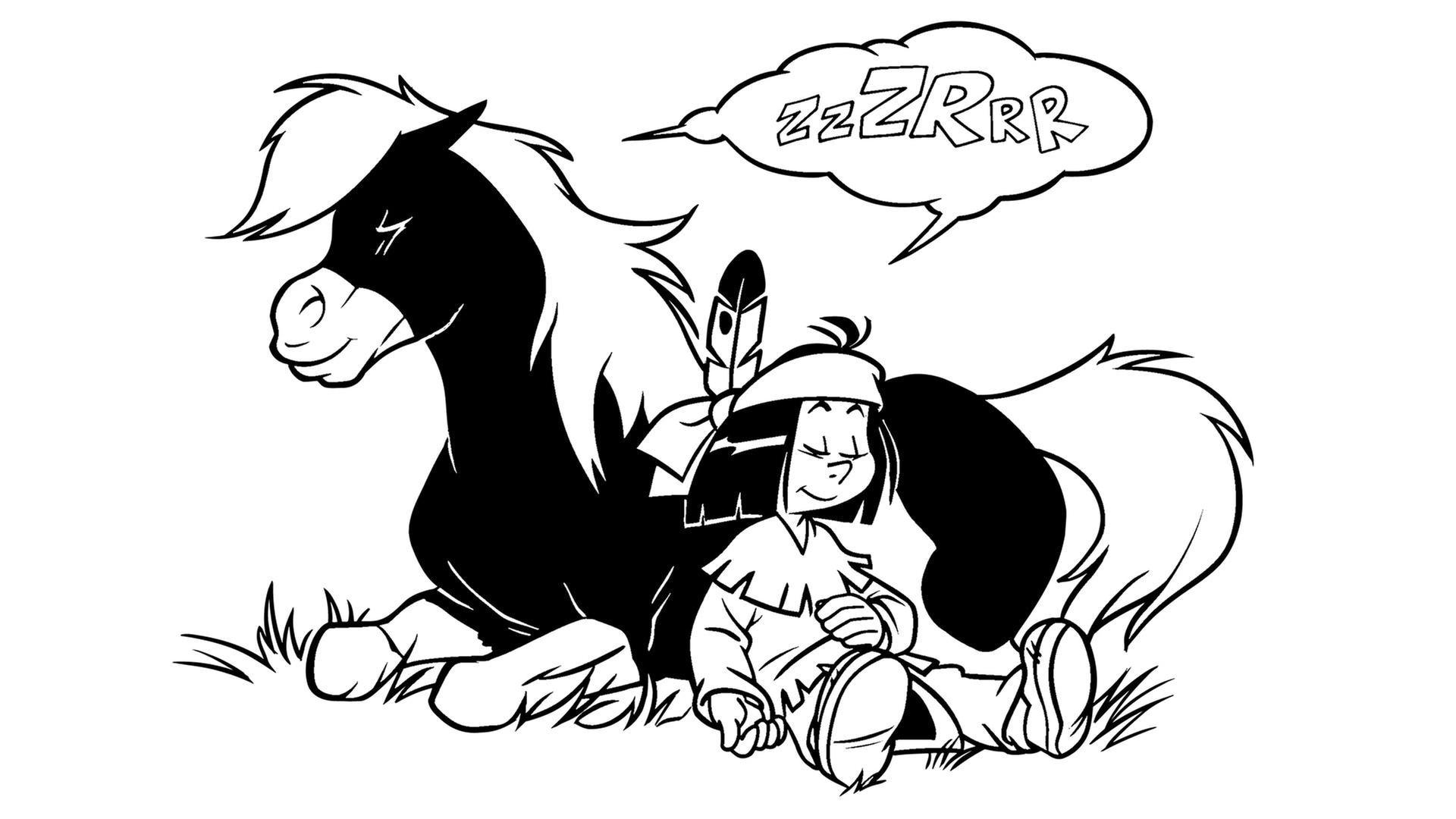Yakari und Kleiner Donner schlafen - KiKA