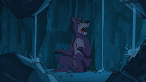 Der Bär kann wegen Lärm in seiner Höhle keinen Winterschlaf halten und ist entsprechend schlecht gelaunt. | Rechte: WDR/Storimages