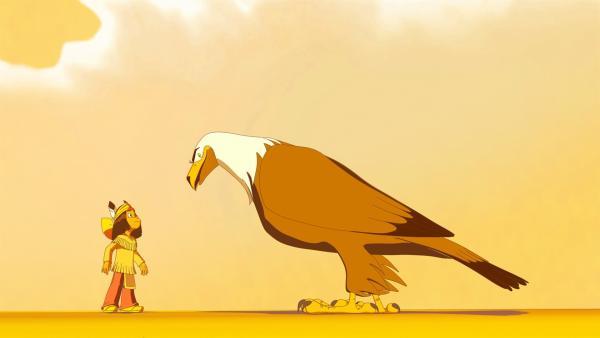 Yakari bekommt Rat von seinem Totem Großer Adler | Rechte: WDR/Ellipsanime Productions/Belvision/Les Cartooneurs Associés/2 Minute