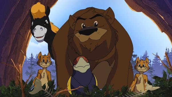 Überraschung für Yakari: Die Flughörnchen, sein Pony Kleiner Donner und der Bär  | Rechte: WDR/Ellipsanime Productions/Belvision/Les Cartooneurs Associés/2 Minute