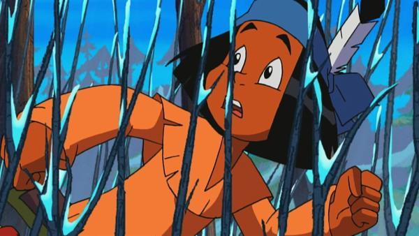 Yakari sucht nach Ruhiger Wolf, einem Jäger aus seinem Stamm. | Rechte: Storimage