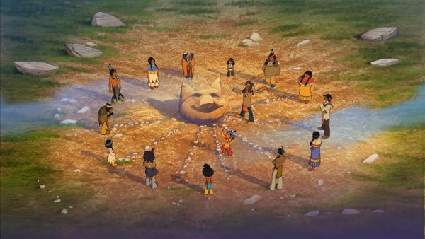 Die Indianer tanzen den Tanz des großen Luchses. | Rechte: WDR/Storimage