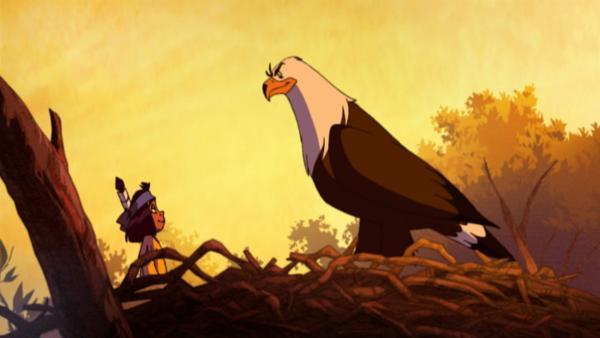 Yakari und Großer Adler | Rechte: KiKA/Storimages