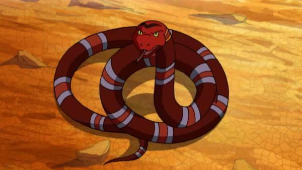 Die Schlange Rotkopf bittet Yakari um Hilfe. | Rechte: WDR/Storimages