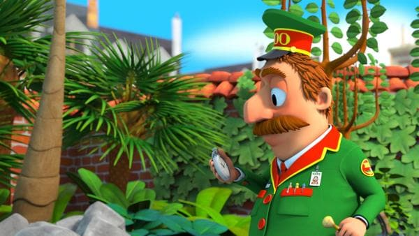 Zoodirektor Herr Timmer wartet ungeduldig auf die Ankunft der Tiere.   Rechte: ZDF/Gaumont Animation