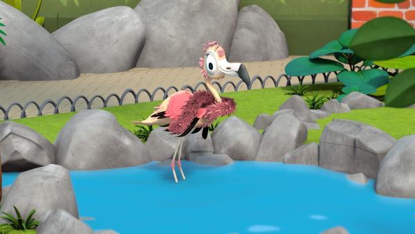 Die Freunde haben Flora eine Stola aus ihren ausgefallenen Federn genäht.   Rechte: ZDF/Gaumont Animation