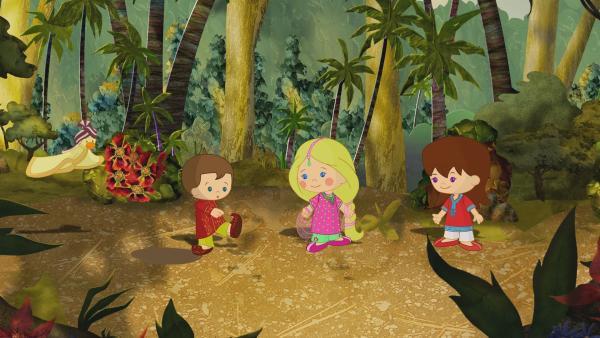 Max, Zoé und Lili erleben heute ein spannendes Abenteuer in Indien. | Rechte: KiKA/Mike Young Productions