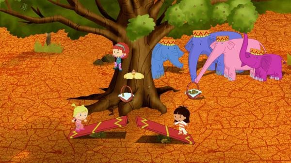 Zoé, Tanja, Carla und Yasemin werden als Artistinnen für eine Show engagiert. | Rechte: KiKA/Mike Young Productions