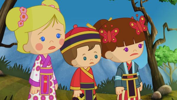 Zoé, Max und Lili erleben ein spannendes Abenteuer in China!  | Rechte: KiKA/Mike Young Productions