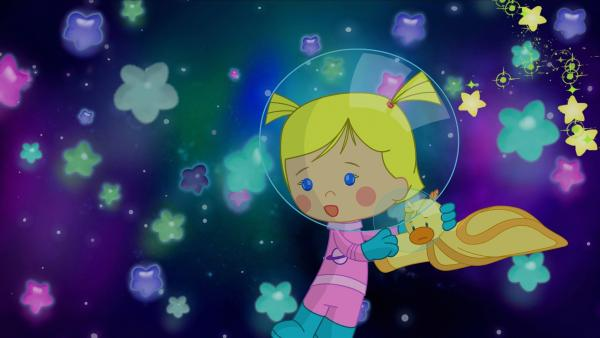 Zoé entdeckt, dass die Sterne nicht mehr richtig hell funkeln. | Rechte: KiKA/Mike Young Productions