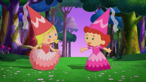 Zoé und ihre Freundin Tanja sind heute Prinzessinnen. | Rechte: KiKA/Mike Young Productions