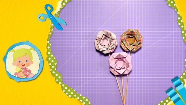 Bastle Blumen aus Papier! Stelle sie in eine Vase oder schmücke deine Pflanzen damit.  | Rechte: KiKA