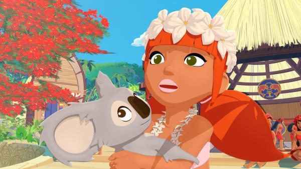 Yanns kleine Schwester Marina hat einen ständigen Begleiter, den Koala Raoul.   Rechte: ZDF/Media Valley/Marzipan Films/TF1/Gaumont Animation