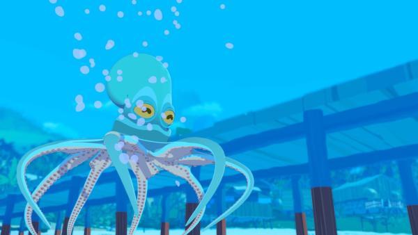 Der Oktopus Paco hat sich verletzt und wird bei Onkel Patrick gepflegt. Bald stellt sich heraus, dass er Ereignisse voraussagen kann. Jack wittert ein gutes Geschäft.   Rechte: ZDF/Media Valley/Marzipan Films/TF1/Gaumont Animation